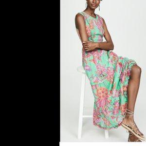 Banjanan • Isha Dress Flamingo Rhododendron Green
